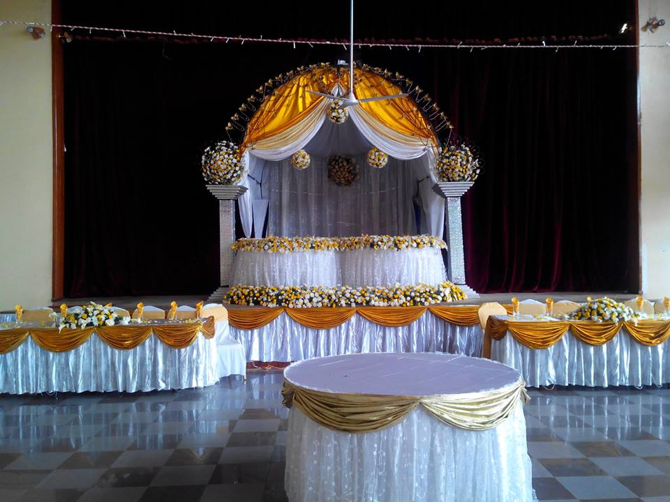 Nice wedding decorations by Henhar Service
