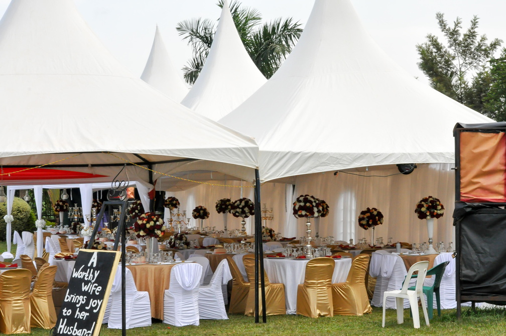 Wedding decorations by Evannah Events at Nican Resort in Entebbe