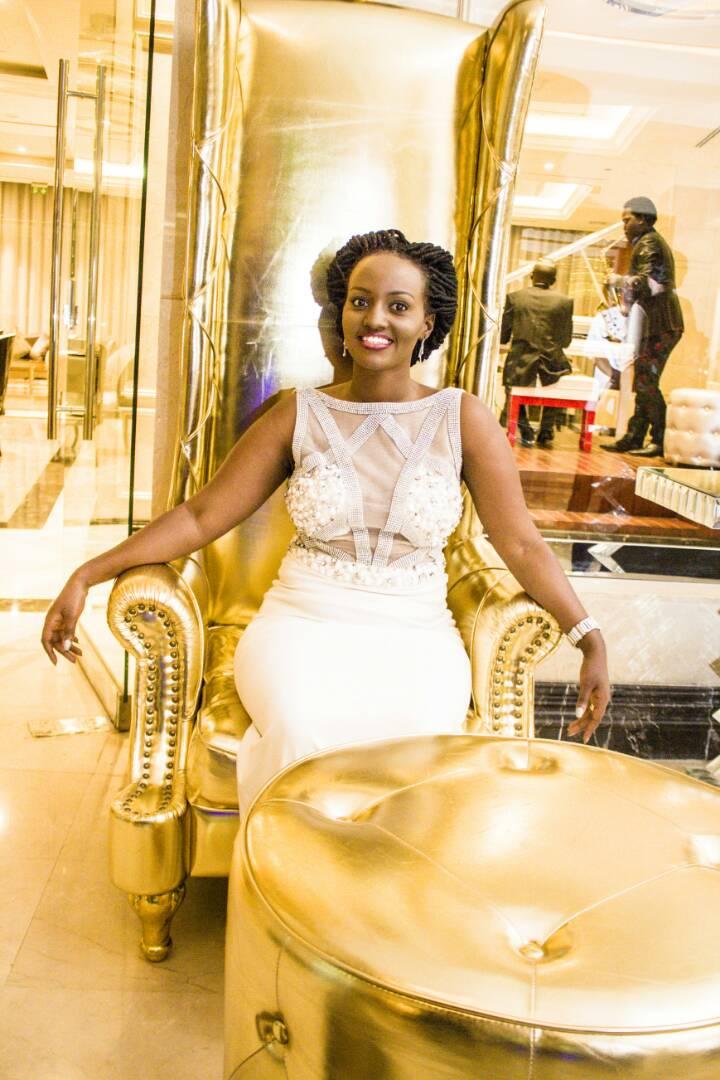 Cream Treasure and Bravo's Anniversary Mermaid Dress Photos at Pearl of Africa