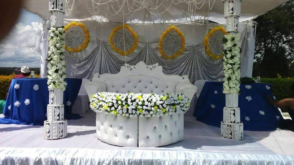 Wedding high table decorations by Shibz Events Ltd
