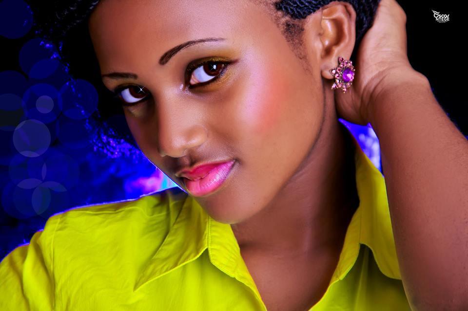 A gorgeous Ugandan model with makeup done by Surayah Bridal Makeup