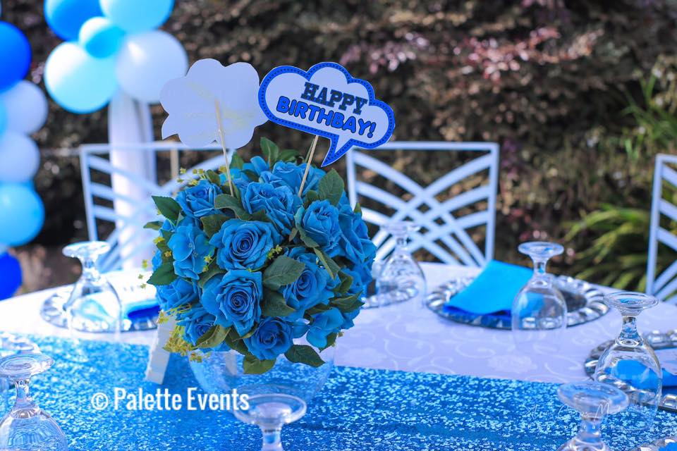 Armani's birthday decor at La Jolla Gardens, Bukoto-Kisasi