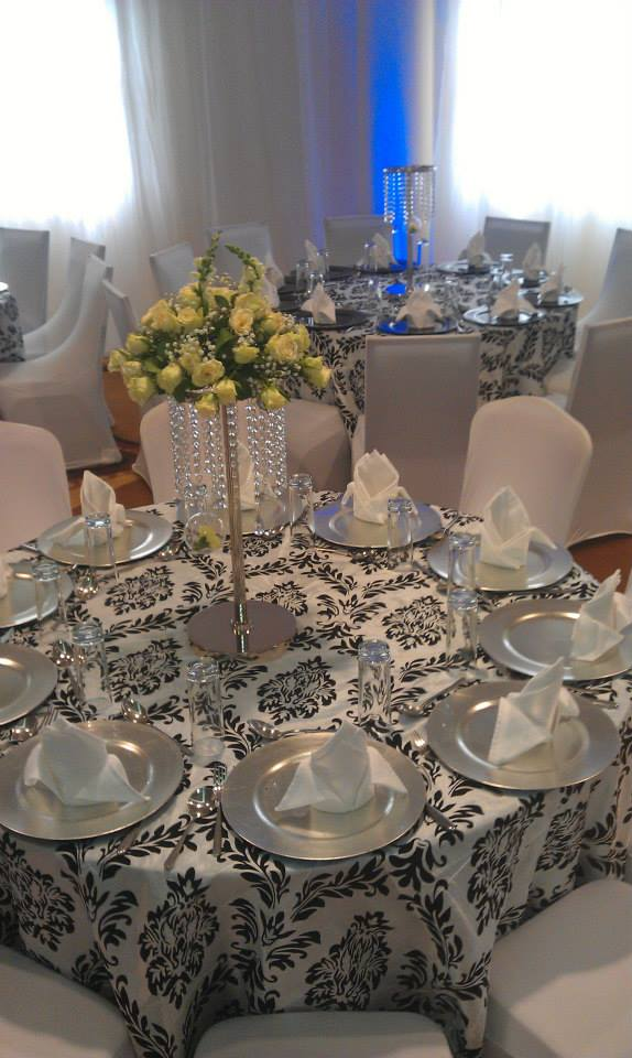 Black and White Decor Set Up at Royal Suites Bugolobi