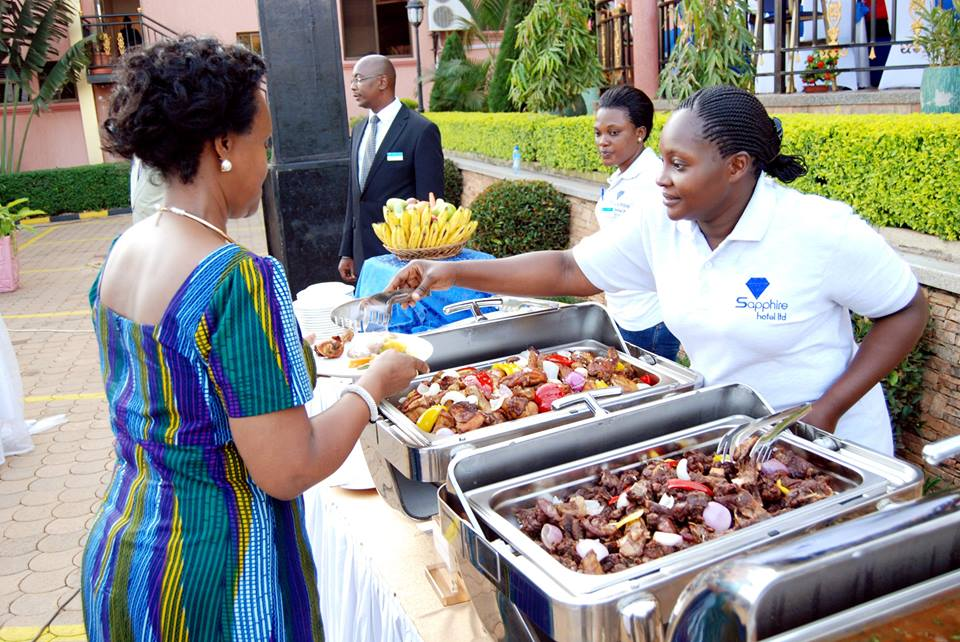 Catering services at Sapphire Hotel Limited